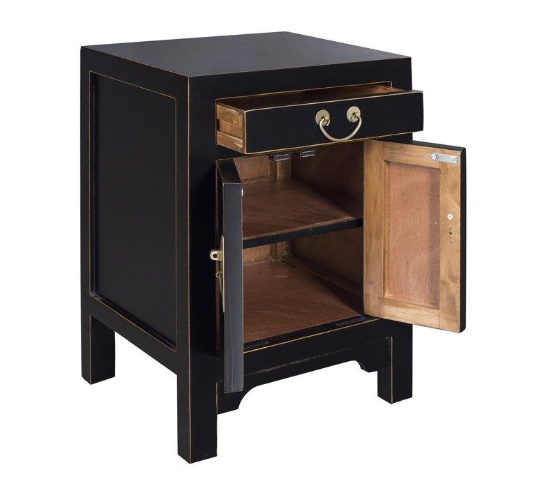 Chinees Nachtkastje Onyx Zwart - Orientique Collection L42xB35xH60cm