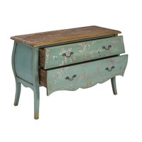 Chinese Sideboard Handpainted Blue Birds L120xW48xH80cm