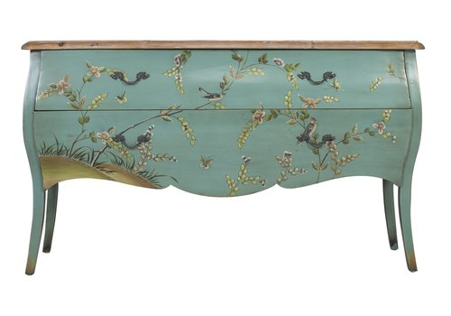 Fine Asianliving Chinese Sideboard Handpainted Spring -L150xB43xH88cm