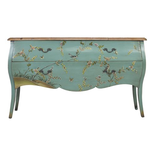Chinese Sideboard Handpainted Spring - L185xW43xH88cm