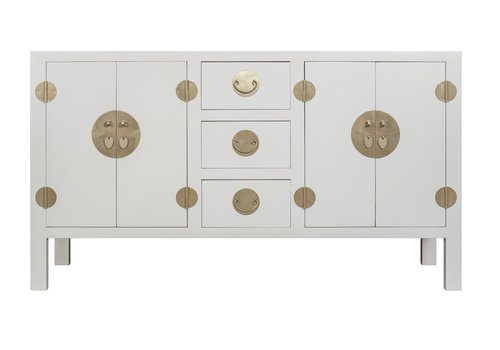Fine Asianliving Chinese Sideboard Moonshine Greige - Orientique Collection W160xD50xH90cm