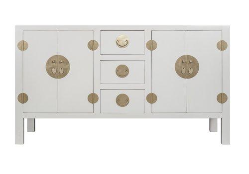Fine Asianliving Credenza Cinese Grigia - Orientique Collezione L160xP50xA90cm
