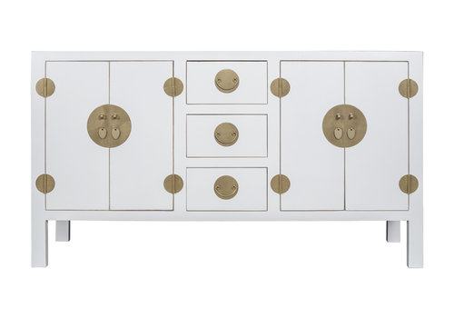 Fine Asianliving Chinese Sideboard Snow White - Orientique Collection L160xW50xH90cm