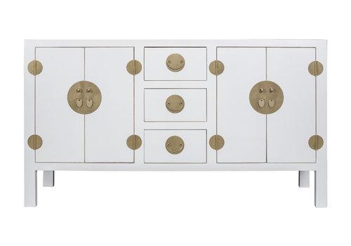 Fine Asianliving Chinesisches Sideboard Kommode Schneeweiß - Orientique Sammlung B160xT50xH90cm