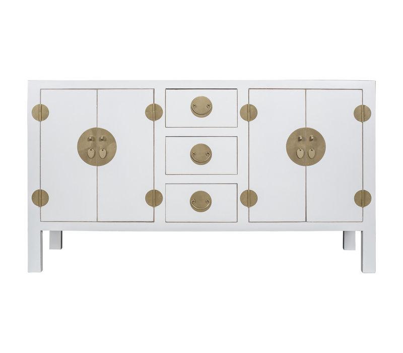 Buffet Chinois Blanc - Orientique Collection L160xP50xH90cm
