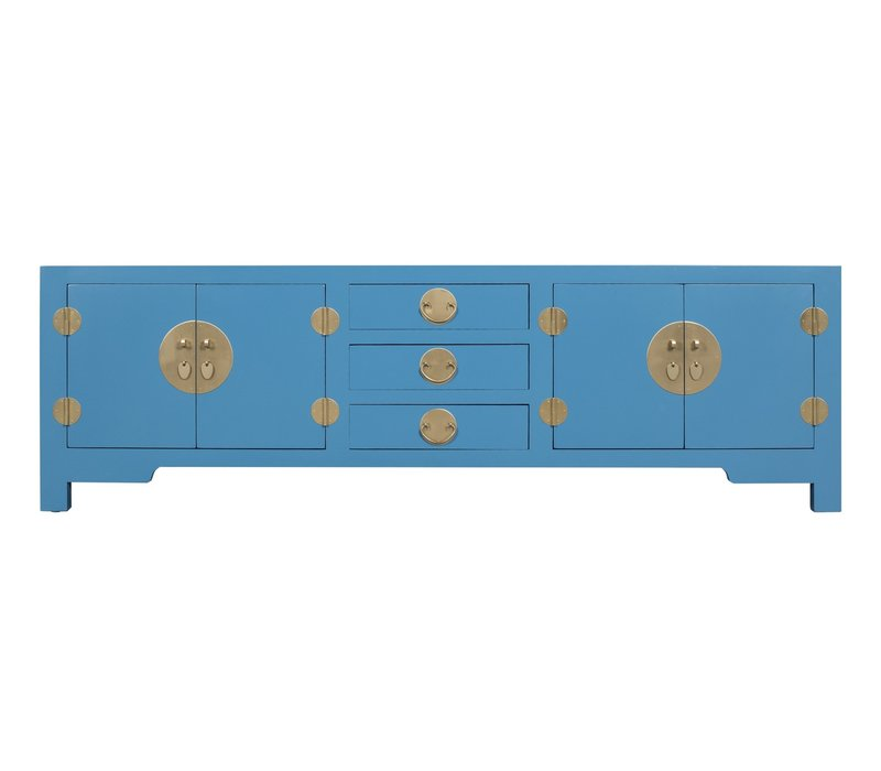 Chinese TV Stand Bench Sapphire Blue - Orientique Collection W175xD47xH54cm