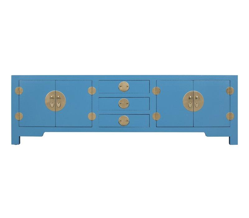 Meuble TV Chinois Bleu Ciel - Orientique Collection L175xP47xH54cm