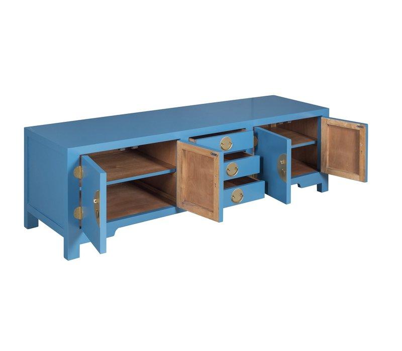Chinese TV-meubel Saffierblauw - Orientique Collection B175xD47xH54cm