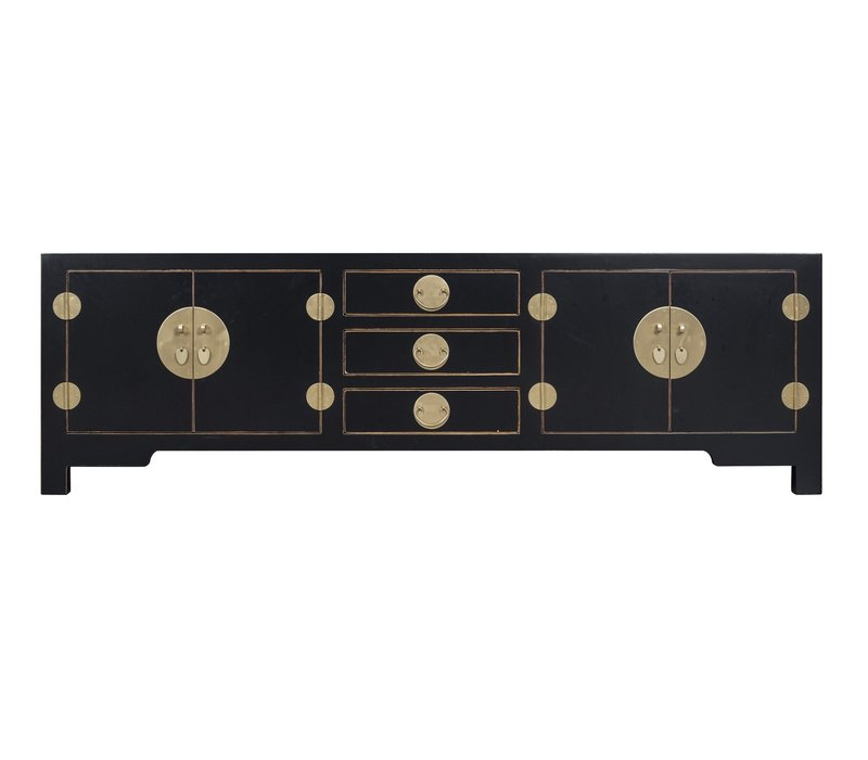 Chinese TV Kast Onyx Zwart - Orientique Collection B175xD47xH54cm