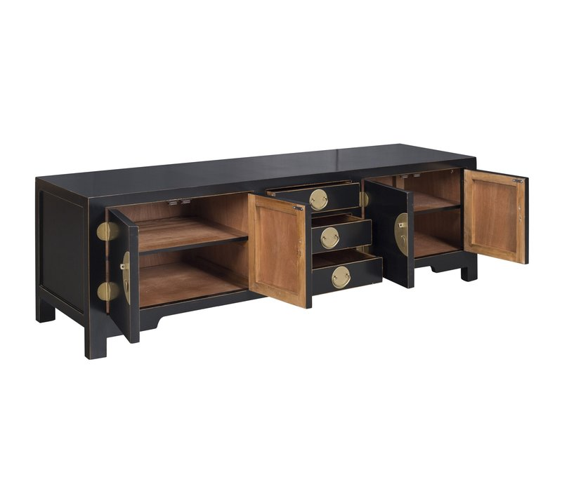 Chinese TV Cabinet Onyx Black - Orientique Collection L175xW47xH54cm
