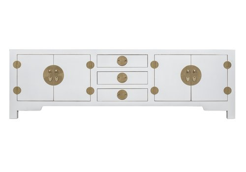 Fine Asianliving Chinese TV Kast Sneeuw Wit - Orientique Collectie B175xD47xH54cm