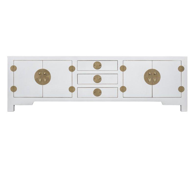Chinese TV-meubel Sneeuwwit - Orientique Collectie B175xD47xH54cm