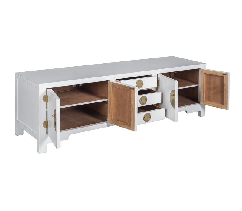 Chinese TV Stand Bench Snow-white - Orientique Collection W175xD47xH54cm