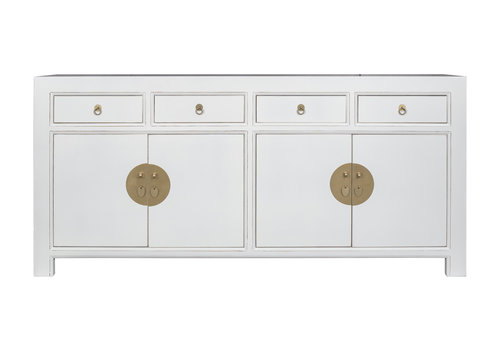Fine Asianliving Chinese Sideboard Snow White - Orientique Collection L180xW40xH85cm