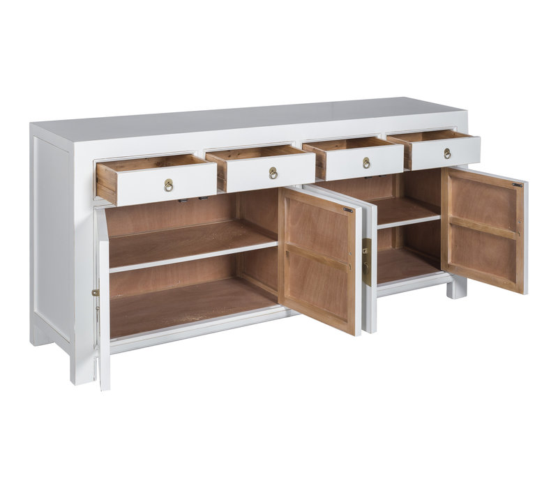 Chinese Dressoir Snow Wit - Orientique Collection L180xB40xH85cm