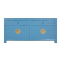 Buffet Chinois Bleu Saphir - Orientique Collection L180xP40xH85cm