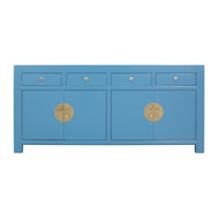 Chinese Sideboard Sapphire Blue - Orientique Collection L180xW40xH85cm