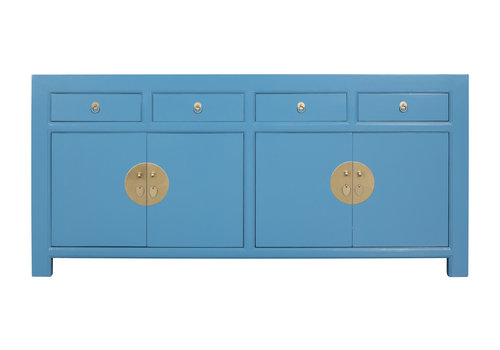 Fine Asianliving Chinese Sideboard Sapphire Blue - Orientique Collection L180xW40xH85cm