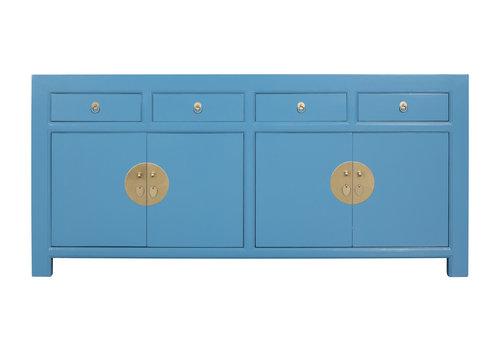 Fine Asianliving Credenza Cinese Blu Cielo - Orientique Collezione L180xP40xA85cm