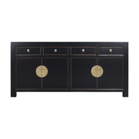 Chinese Sideboard Onyx Black - Orientique Collection L180xW40xH85cm
