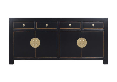 Fine Asianliving Chinese Sideboard Onyx Black - Orientique Collection L180xW40xH85cm