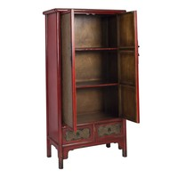 Armoire Chinoise Handbraided Bambou Rouge L90xP48xH180cm