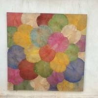 Décoration Murale Feuille de Lotus multicouleur