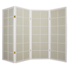 Fine Asianliving Japans Kamerscherm Shoji Traditioneel Rijstpapier 4 Panelen - Wit 130/W4