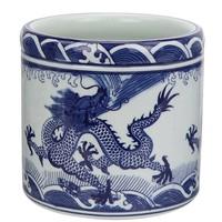 Chinese Bloempot Draak Handbeschilderd Set/3