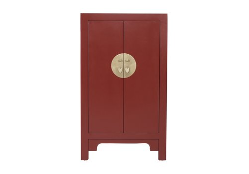 Fine Asianliving Armoire Chinoise Rouge Rubis - Orientique Collection L70xP40xH120cm