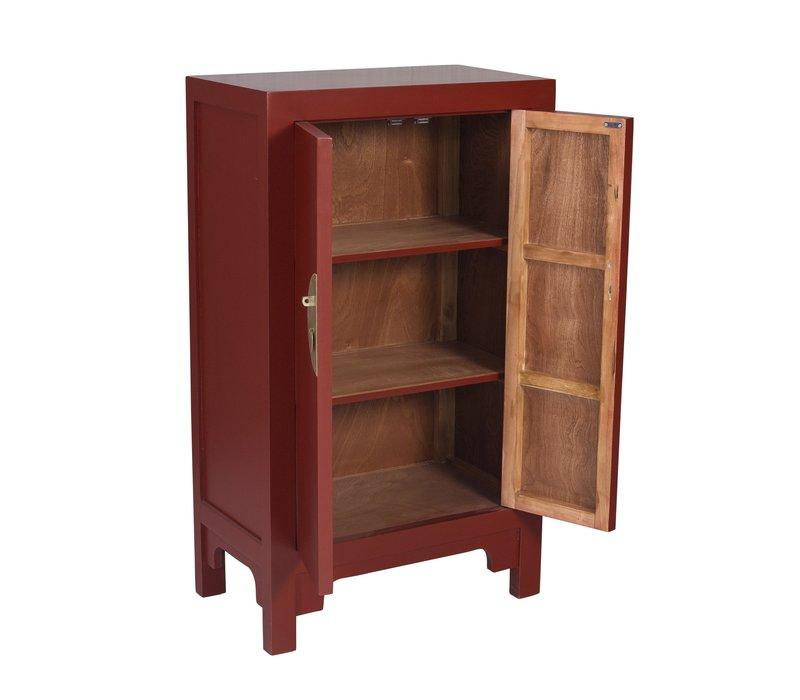 Armadio Cinese Rosso Rubino - Orientique Collezione L70xP40xA120cm