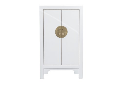 Fine Asianliving Chinese Cabinet Snow White - Orientique Collection L70xW40xH120cm