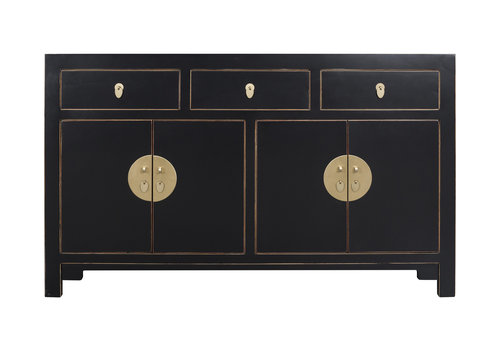 Fine Asianliving Chinese Sideboard Onyx Black - Orientique Collection W140xD35xH85cm