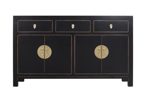 Fine Asianliving Chinesisches Sideboard Kommode Onyx Schwarz - Orientique Collection B140xT35xH85cm