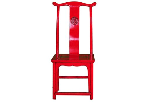 Fine Asianliving Silla China Roja Anch.50 x Prof.50 x Alt.56 cm