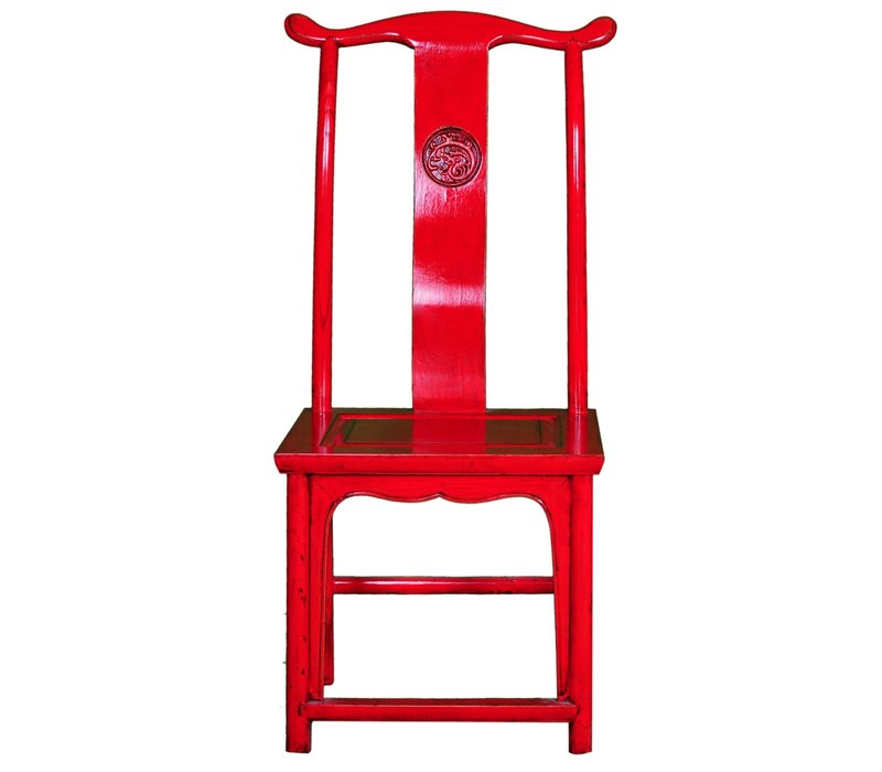 Chaise Chinoise Rouge L50xP50xH56cm