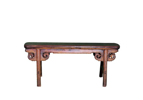 Fine Asianliving Antique Chinese Bench Handcarved
