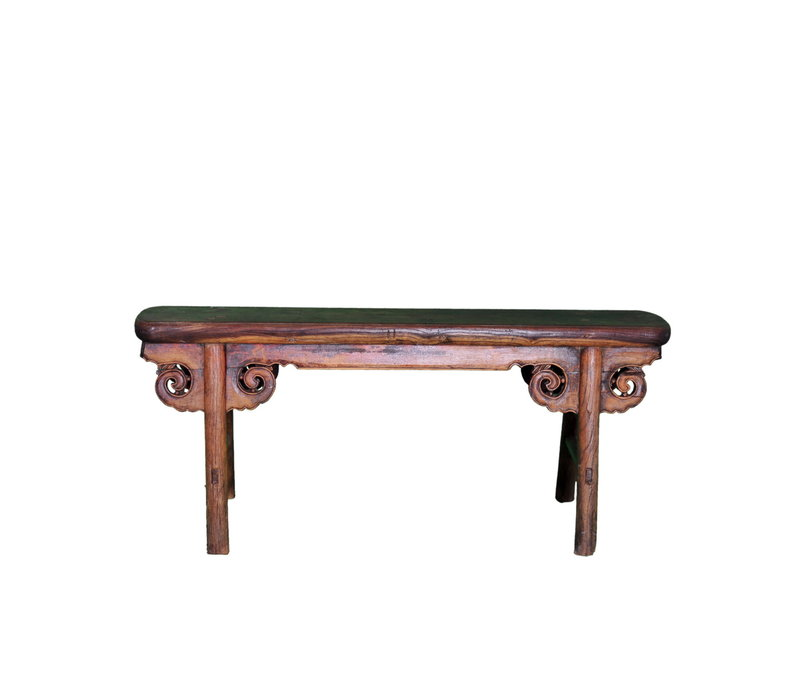 Antique Chinese Bench Handcarved