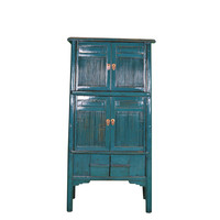Antique Chinese Cabinet Large W91xD50xH183cm Blue