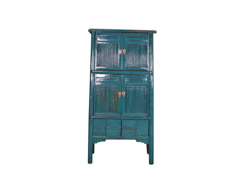 Fine Asianliving Antique Chinese Cabinet Large W91xD50xH183cm Blue