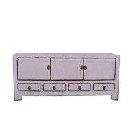 Antique Chinese TV Cabinet White W130xD40xH58cm