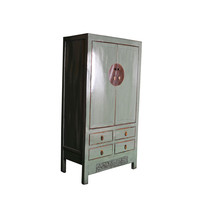 Antique Chinese Wedding Cabinet Handcrafted Mint W103xD50xH188cm