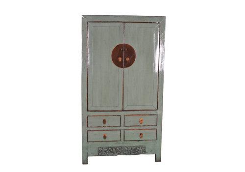 Fine Asianliving Antiker Chinesischer Hochzeitsschrank Handgefertigt Mint B103xT50xH188cm