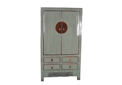 Fine Asianliving Antique Chinese Wedding Cabinet Handcrafted Mint W103xD50xH188cm