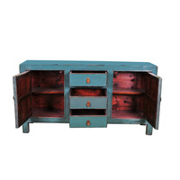 Antique Chinese Sideboard Blue W163xD40xH89cm