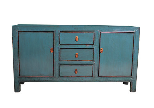 Fine Asianliving Antique Chinese Sideboard Blue W163xD40xH89cm
