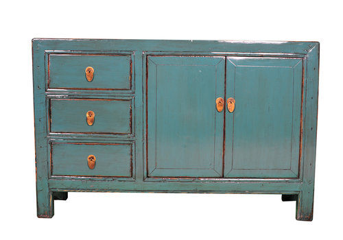Fine Asianliving Antique Chinese Sideboard Blue W139xD39xH91cm