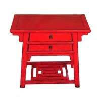 Antique Chinese Sidetable Red W86xD42xH80cm
