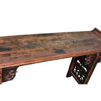 Antieke Chinese Altaar Tafel Handgesneden B182xD46xH96cm