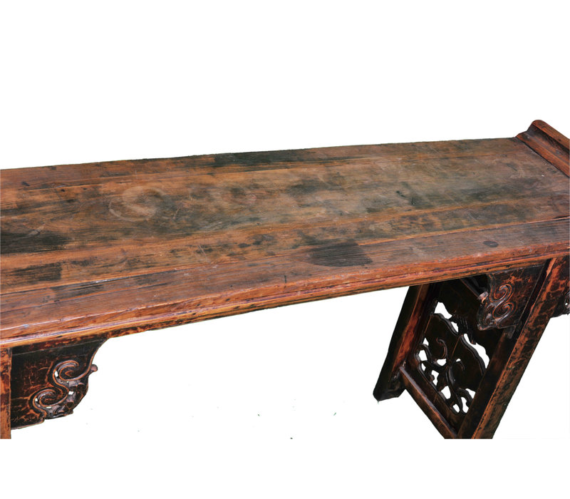Antique Chinese Altar Table Hand-carved W182xD46xH96cm